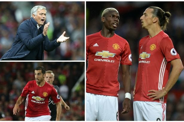 Manchester United Gol Ibrahimovic Pogba Mourinho